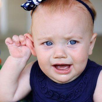 Шишка за ухом у ребёнка